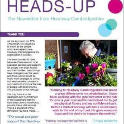 Heads-Up Spring 2016 Newsletter